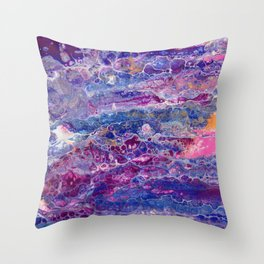 Psycho - Stream of Consciousness in Lively Color Flow by annmariescreations Throw Pillow