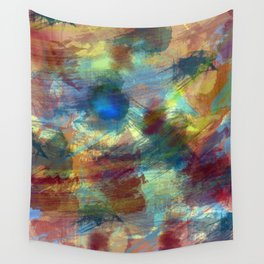 Vibrant Colored Abstract Painting Wall Tapestry