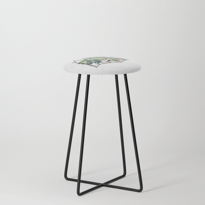 greenhouse with plants Counter Stool