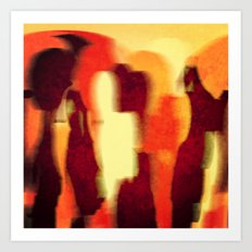 Shadow People Art Print
