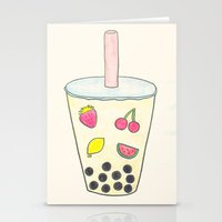 boba Stationery Cards featuring Boba by Anastasia Flowers
