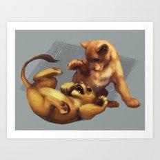 Simba and Nala Art Print