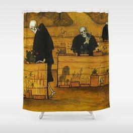 THE GARDEN OF DEATH - HUGO SIMBERG Shower Curtain