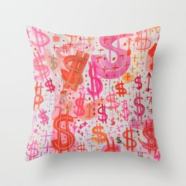 Barbie Money Throw Pillow