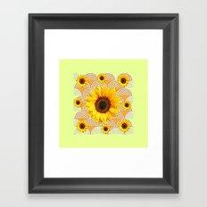 Golden Sunflowers Art  Yellow-Cummin Color Deco Art Framed Art Print