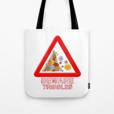 Warning tribbles Tote Bag