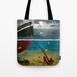 View into the underwater world Tote Bag