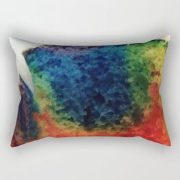 Tie Dye Cupcake Rectangular Pillow