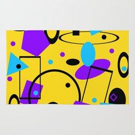 Retro abstract print yellow Rug