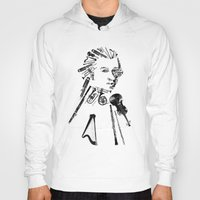 mozart Hoodies featuring Wolfgang Amadeus Mozart by bananabread