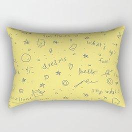 Doodle Fun Times Rectangular Pillow