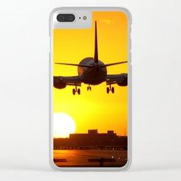Beautiful 737 Sunset Clear iPhone Case