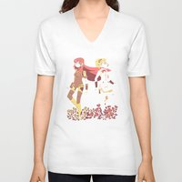 vocaloid V-neck T-shirts featuring VOCASONA by farfin
