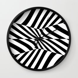 Black and white vision by lh Wall Clock