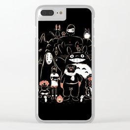Portrait family Clear iPhone Case