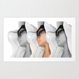 Cin-blanc Art Print