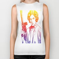 princess leia Biker Tanks featuring Princess Leia by mchlsrr