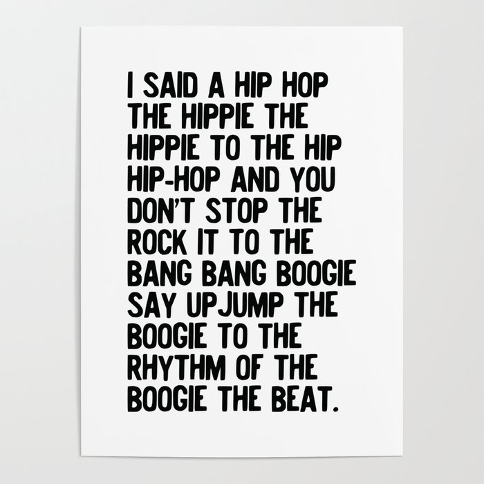 RAPPERS DELIGHT Hip Hop CLASSIC MUSIC Poster