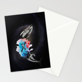 Cosmic Whale Stationery Cards