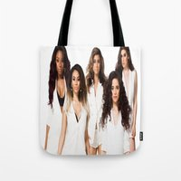 fifth harmony Tote Bags featuring Fifth Harmony by Raquel S