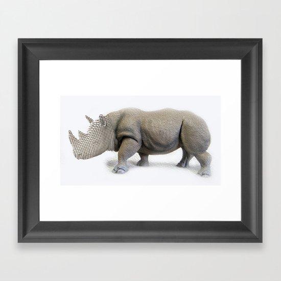 Mesh Rhyno Framed Art Print