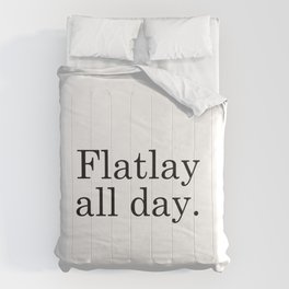 Flatlay All Day - White Comforters