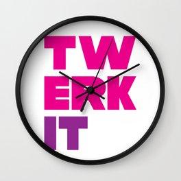 Twerk It Wall Clock