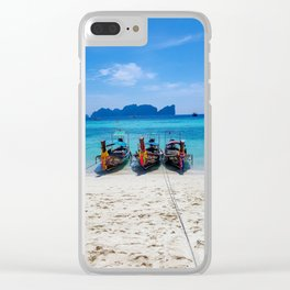 Island Hopping on Longtails Clear iPhone Case