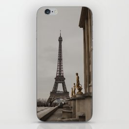 View of Eiffel Tower and Trocadero Statues iPhone Skin