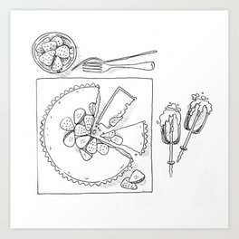 Strawberry Cheesecake Tart Art Print