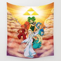 hyrule Wall Tapestries featuring Four Goddess of Hyrule by Jeffrey Carrion