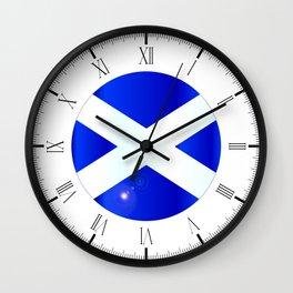 Scotish Flag Button Wall Clock