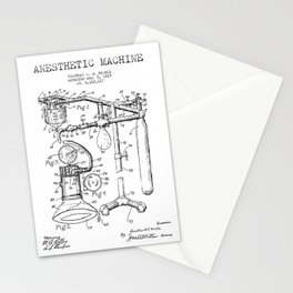 Vintage Anesthesia Gas Machine Stationery Cards