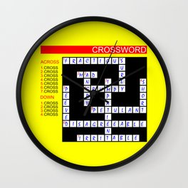 Crossword Wall Clock