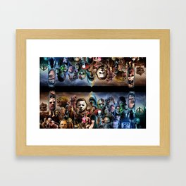 Horror Icons. Framed Art Print