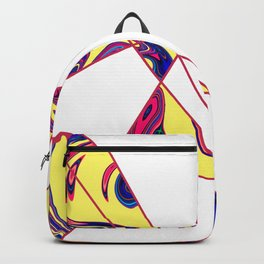Contemporary Geometric Sunny Stone Marble Backpack