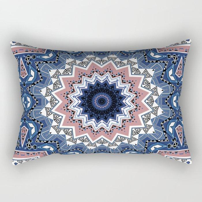Kaleidoscope .Blue mist . Rectangular Pillow