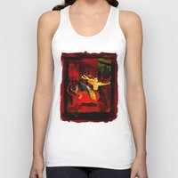 boxing Tank Tops featuring Boxing Sagittarius by Genco Demirer