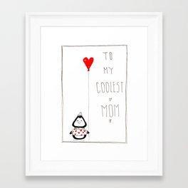 Valentine's card penguin Framed Art Print
