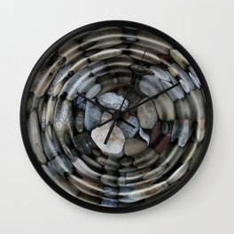 River Rocks Wall Clock