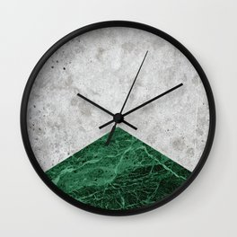 Concrete Arrow Green Granite #412 Wall Clock
