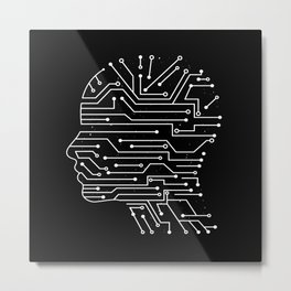 ARTIFICIAL INTELLIGENCE Metal Print