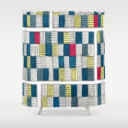 New York Streetscape Shower Curtain