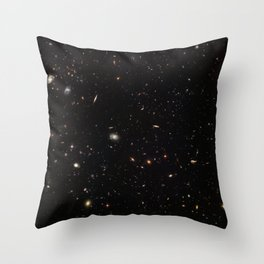 Hubble Space Telescope - A galactic gathering Throw Pillow