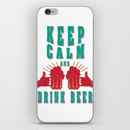 keep calm- I love beer iPhone Skin