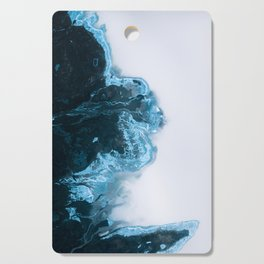 Abstract Aerial Lake in Iceland – Minimalist Landscape Photography Cutting Board