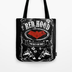 RED HOOD  label whiskey style Tote Bag