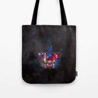 lotus flower Tote Bags featuring Lotus by Spooky Dooky