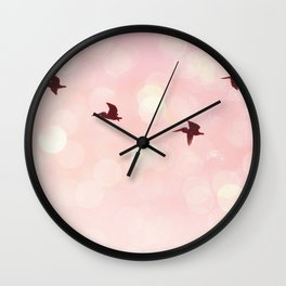 Pelicans Flying Wall Clock
