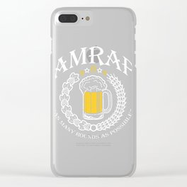 AMRAP Beer As Many Rounds As Possible Clear iPhone Case